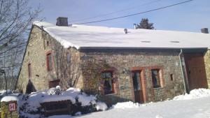 de woningen ouder de sneeuw