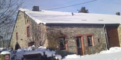 les 2 gîtes sous la neige