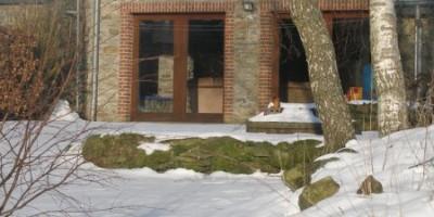 vue arrière gîte 1 sous la neige