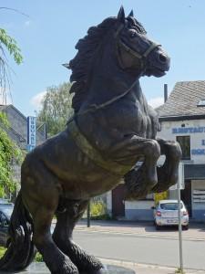 Statue de cheval de débardage