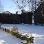 Les Lhommzlinnes gite 2 jardin sous la neige